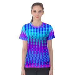 Melting Blues and Pinks Women s Sport Mesh Tees
