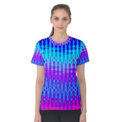 Melting Blues and Pinks Women s Cotton Tees