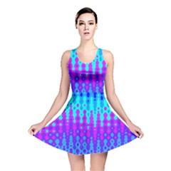 Melting Blues And Pinks Reversible Skater Dresses