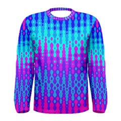 Melting Blues and Pinks Men s Long Sleeve T-shirts