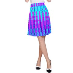 Melting Blues and Pinks A-Line Skirts