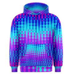 Melting Blues and Pinks Men s Zipper Hoodies