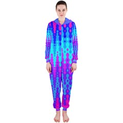 Melting Blues and Pinks Hooded Jumpsuit (Ladies)
