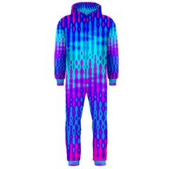 Melting Blues And Pinks Hooded Jumpsuit (men)