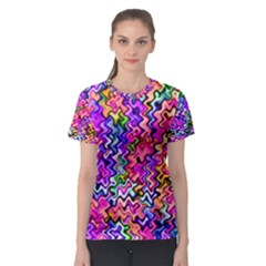 Swirly Twirly Colors Women s Sport Mesh Tees