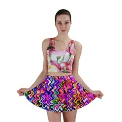 Swirly Twirly Colors Mini Skirts