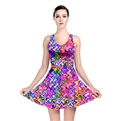 Swirly Twirly Colors Reversible Skater Dresses