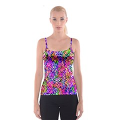 Swirly Twirly Colors Spaghetti Strap Tops