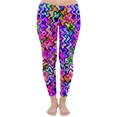Swirly Twirly Colors Winter Leggings