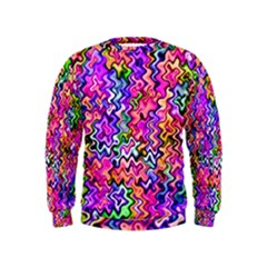 Swirly Twirly Colors Boys  Sweatshirts