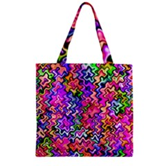 Swirly Twirly Colors Zipper Grocery Tote Bags
