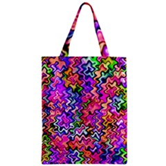 Swirly Twirly Colors Zipper Classic Tote Bags