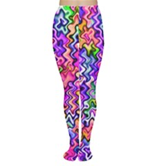 Swirly Twirly Colors Women s Tights