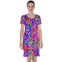 Swirly Twirly Colors Short Sleeve Nightdresses