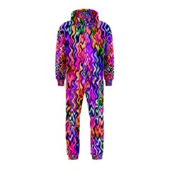 Swirly Twirly Colors Hooded Jumpsuit (kids)