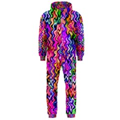 Swirly Twirly Colors Hooded Jumpsuit (men)