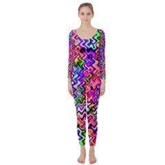 Swirly Twirly Colors Long Sleeve Catsuit