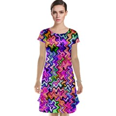Swirly Twirly Colors Cap Sleeve Nightdresses