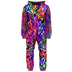 Swirly Twirly Colors Hooded Jumpsuit (Ladies)