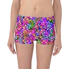 Swirly Twirly Colors Boyleg Bikini Bottoms