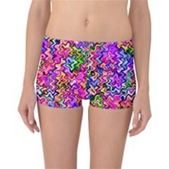 Swirly Twirly Colors Reversible Boyleg Bikini Bottoms