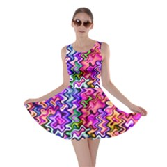 Swirly Twirly Colors Skater Dresses