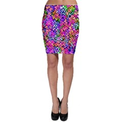 Swirly Twirly Colors Bodycon Skirts