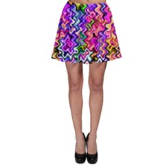 Swirly Twirly Colors Skater Skirts