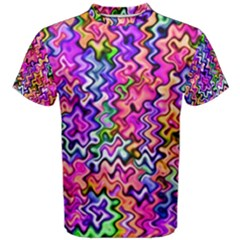 Swirly Twirly Colors Men s Cotton Tees