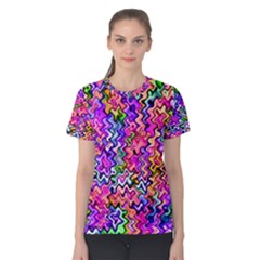Swirly Twirly Colors Women s Cotton Tees