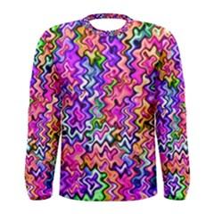 Swirly Twirly Colors Men s Long Sleeve T Shirts