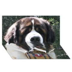 St Bernard Twin Heart Bottom 3D Greeting Card (8x4)