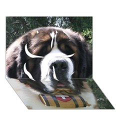 St Bernard Clover 3D Greeting Card (7x5)
