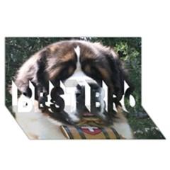 St Bernard BEST BRO 3D Greeting Card (8x4)