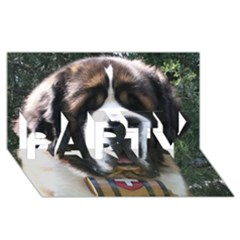 St Bernard PARTY 3D Greeting Card (8x4)