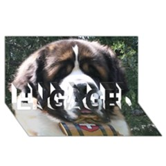 St Bernard ENGAGED 3D Greeting Card (8x4)