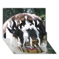 St Bernard WORK HARD 3D Greeting Card (7x5)