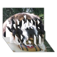 St Bernard THANK YOU 3D Greeting Card (7x5)