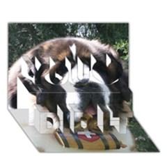 St Bernard You Did It 3D Greeting Card (7x5)