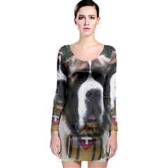 St Bernard Long Sleeve Bodycon Dresses