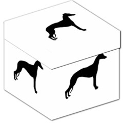Whippet Silhouette Storage Stool 12