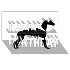 Whippet Silhouette Happy Birthday 3D Greeting Card (8x4)