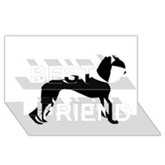 Whippet Silhouette Best Friends 3D Greeting Card (8x4)