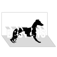 Whippet Silhouette BEST SIS 3D Greeting Card (8x4)