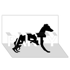 Whippet Silhouette PARTY 3D Greeting Card (8x4)