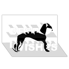 Whippet Silhouette Best Wish 3D Greeting Card (8x4)