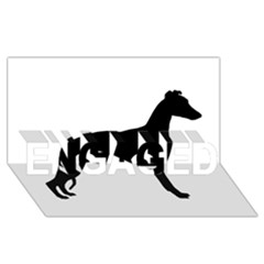 Whippet Silhouette ENGAGED 3D Greeting Card (8x4)