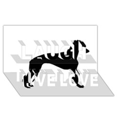 Whippet Silhouette Laugh Live Love 3D Greeting Card (8x4)