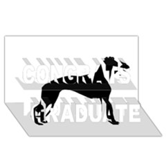 Whippet Silhouette Congrats Graduate 3D Greeting Card (8x4)