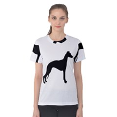 Whippet Silhouette Women s Cotton Tees